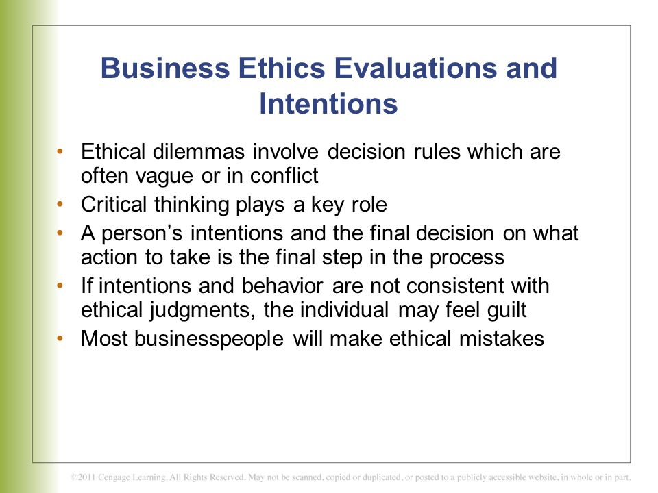 critical thinking in business ethics A right is an ethical, social, or legal principle of entitlement or freedom implying that it is asample critical thinking paper on business ethics.