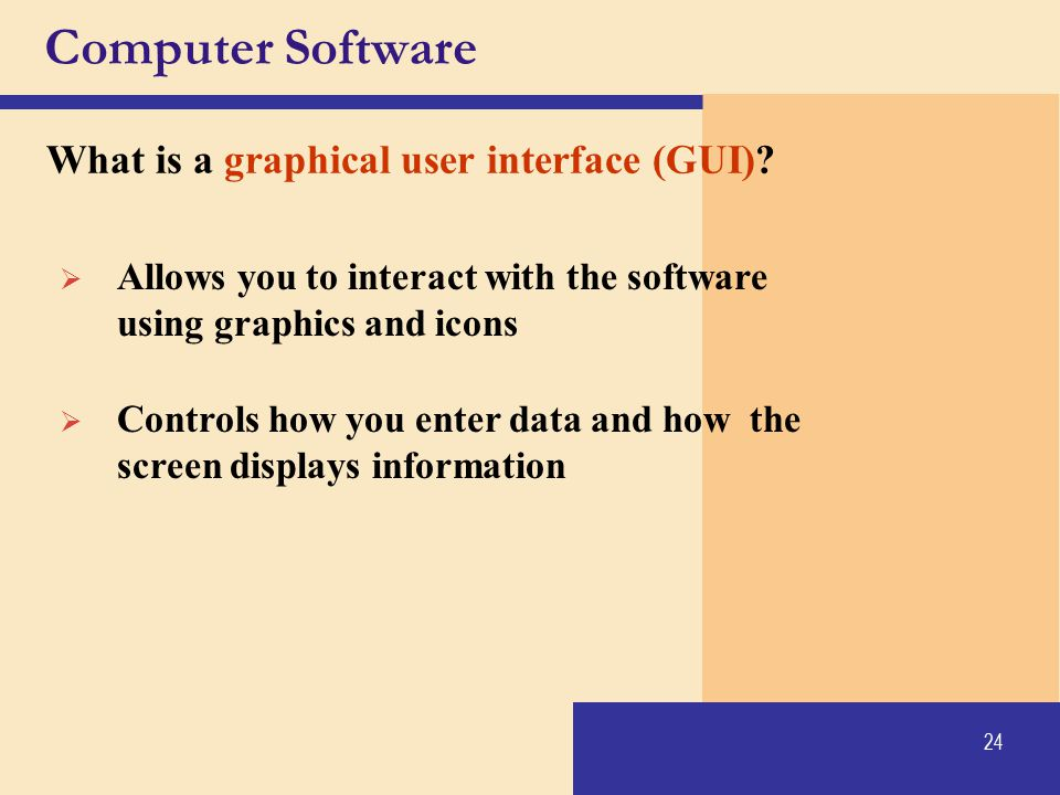 Computer Software What is a graphical user interface (GUI)