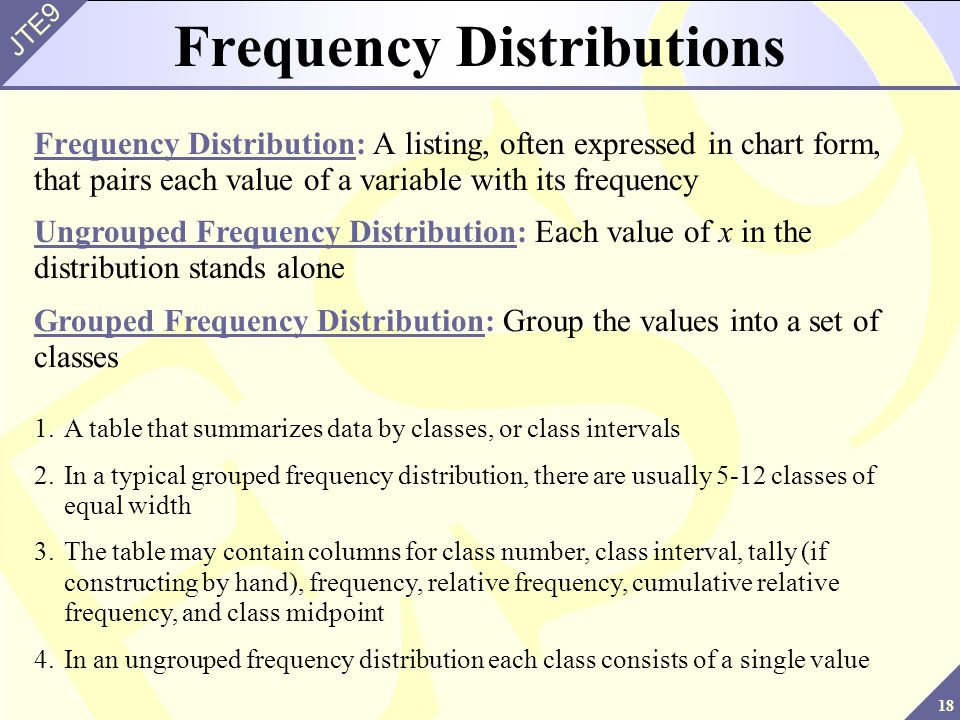 how to get mean and variance in frequency distribution table