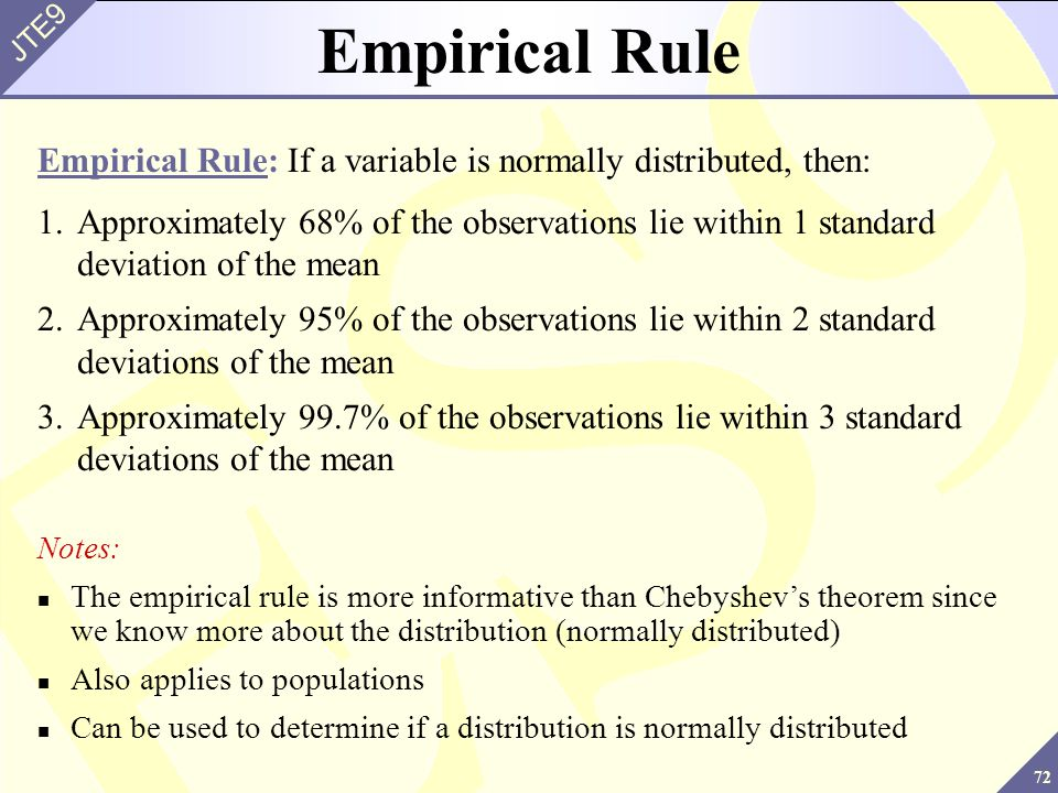 how to tell if the empirical rule applies