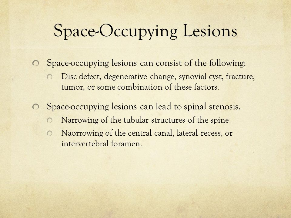 Space-Occupying Lesions