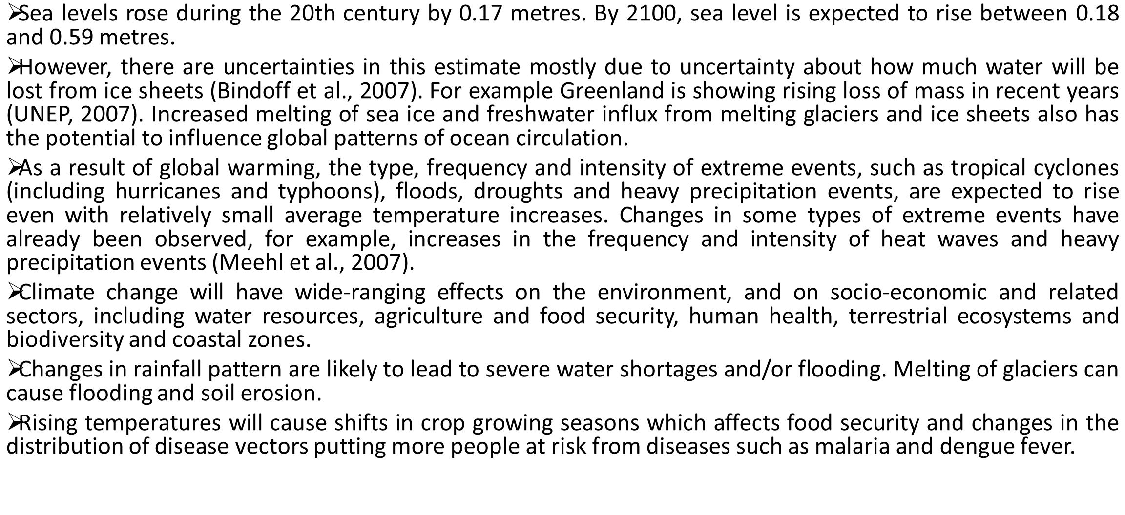 Sea levels rose during the 20th century by 0. 17 metres