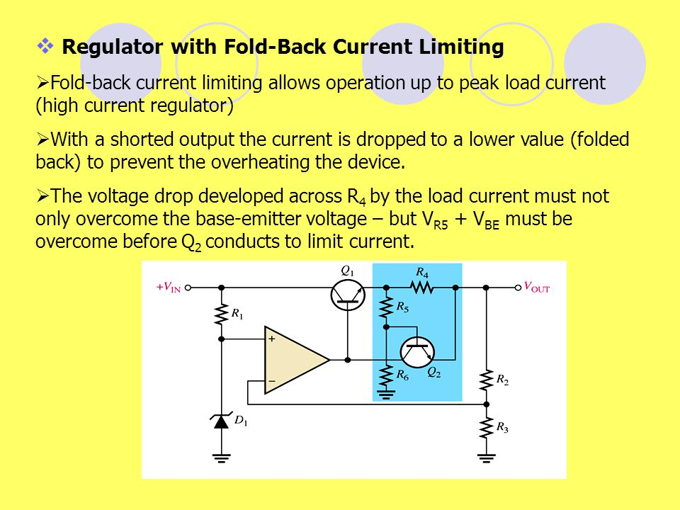 Regulator with Fold-Back Current Limiting