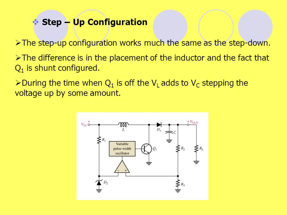Step – Up Configuration