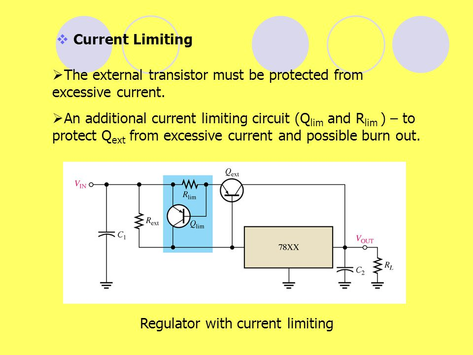 Regulator with current limiting