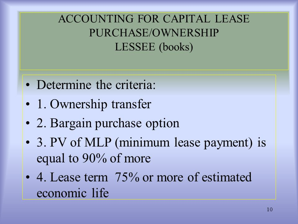 accounting for leases 3 Accounting for lease: operating and capital lease accounting for lease: operating and in two different accounting ways leases that meet any.