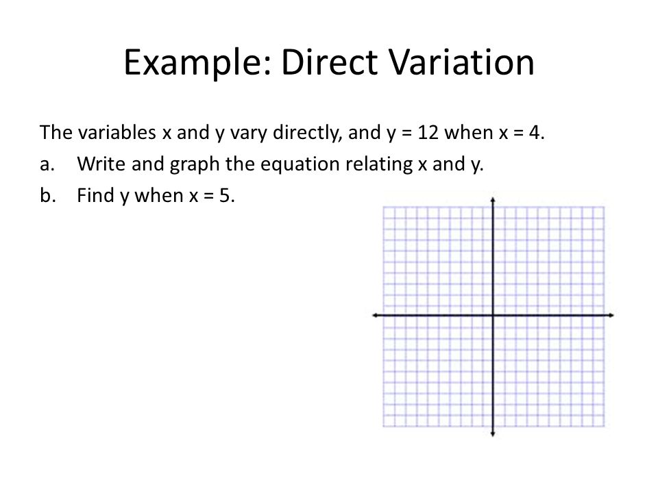 Example Write Equation of Line Given the X and Y Intercepts ppt – Direct Variation Worksheets