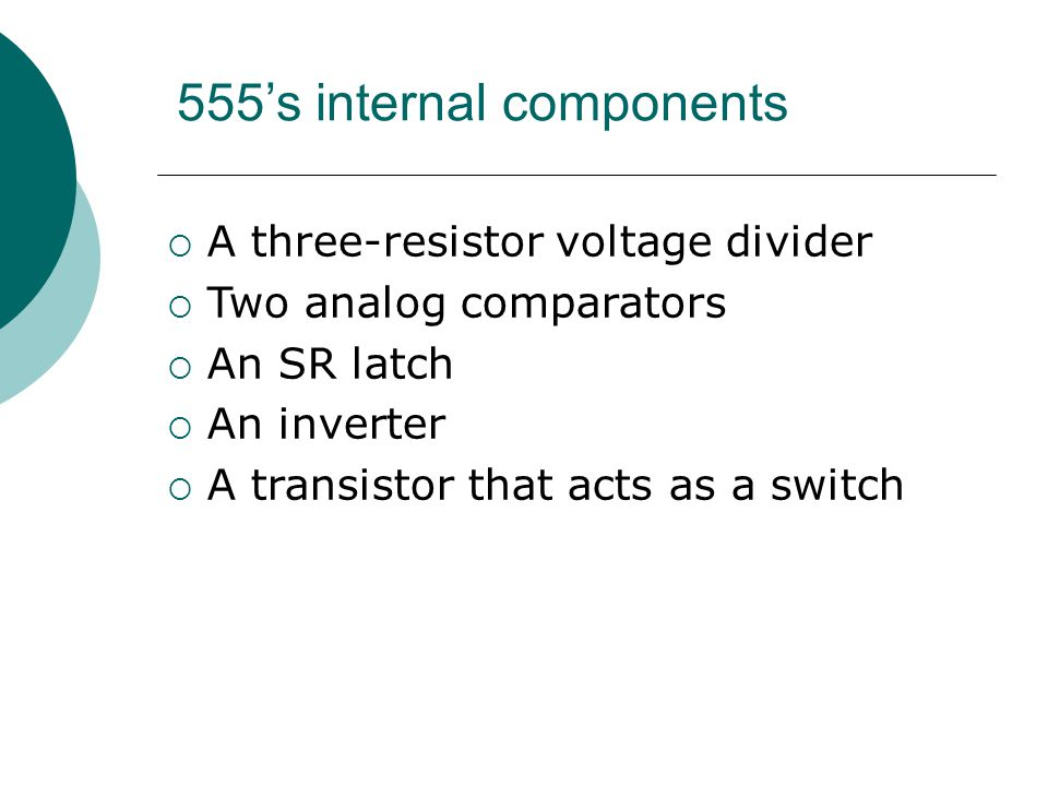 555's internal components