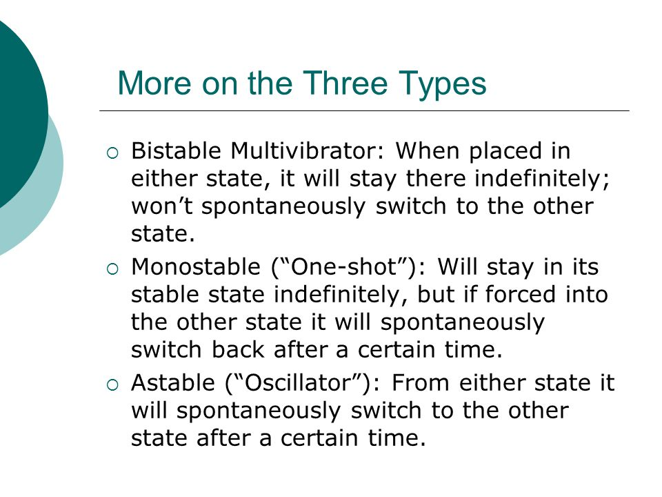 More on the Three Types