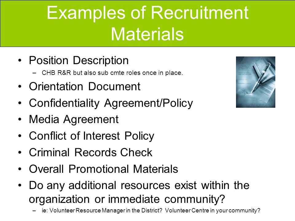Volunteer Recruitment  Ppt Video Online Download