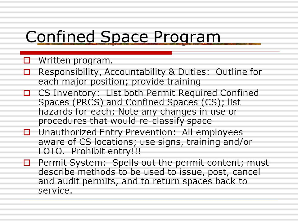 Presentation 15 confined spaces ppt video online download confined space program pronofoot35fo Images