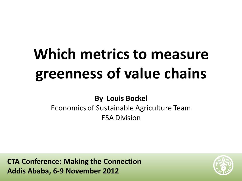 Which metrics to measure greenness of value chains