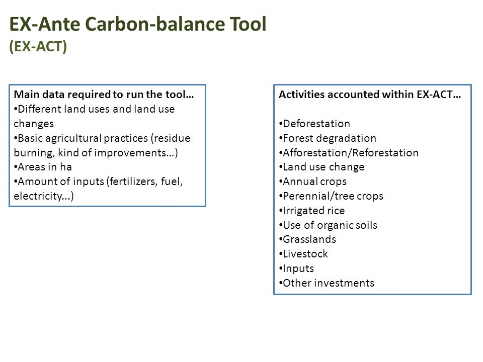 EX-Ante Carbon-balance Tool