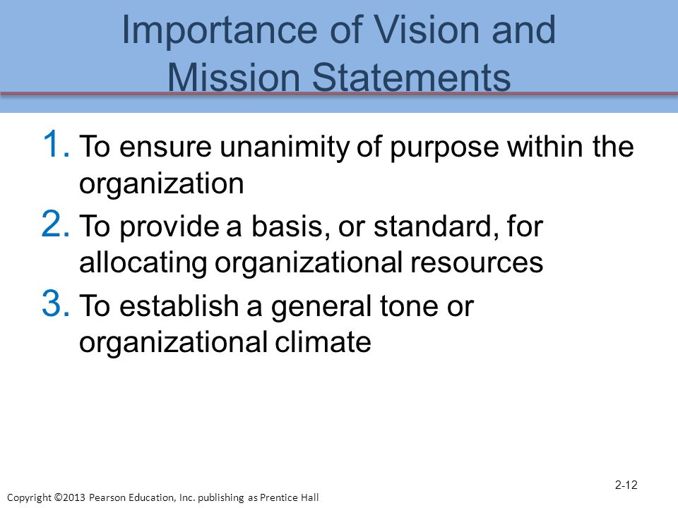 Wonderful Importance Of Vision And Mission Statements