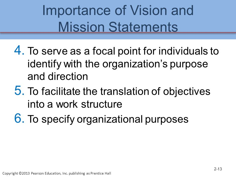 Exceptional Importance Of Vision And Mission Statements