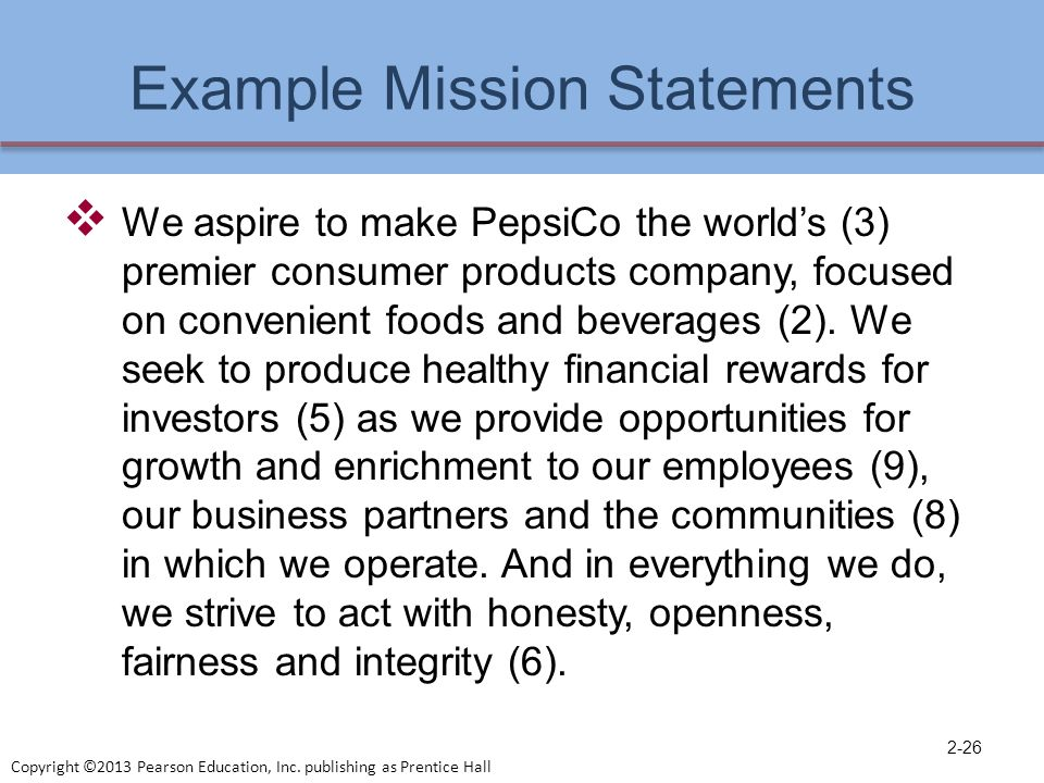 sample mission statements for businesses