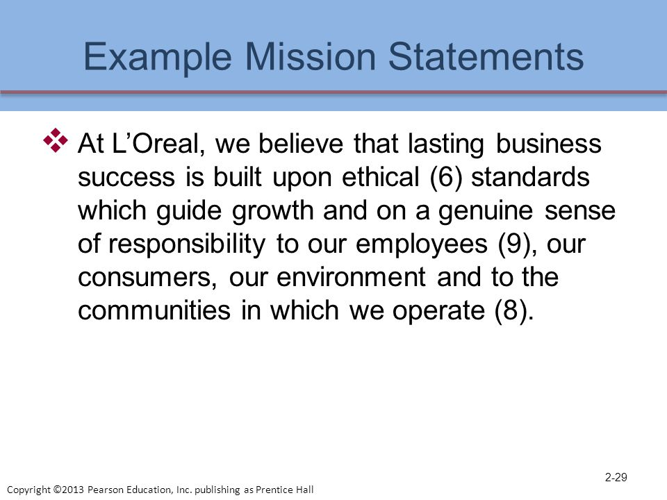 Sample Mission Statement For Business Blackdgfitness
