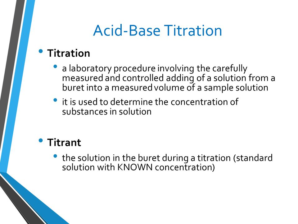 standardization of acid base Standardiation of acid and base eunice ivy b gamboa abstract solutions of known concentration are prepared by dissolving measured masses of standard acids in.