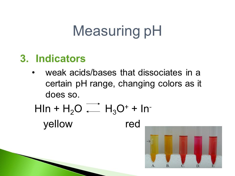 indicators and ph measurements For ph meters to be accurate, they have to be properly calibrated (the meter is accurately translating voltage measurements into ph measurements), so they usually need testing and adjusting before you start to use them.