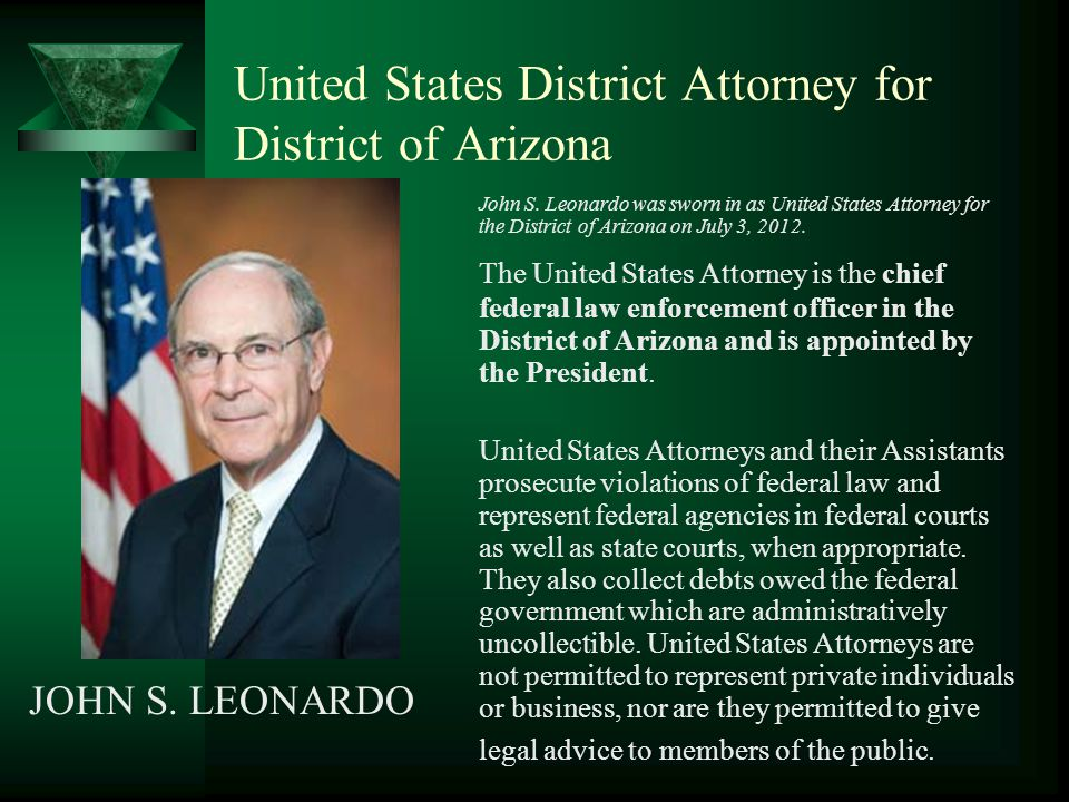 United States District Attorney for District of Arizona