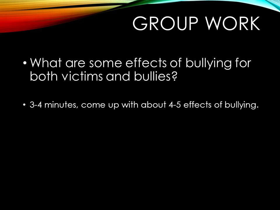 bullying and its consequences Previous studies have found a link between bullying and a higher risk of mental health problems during childhood, such as low self-esteem, poor school performance, depression, and an increased.