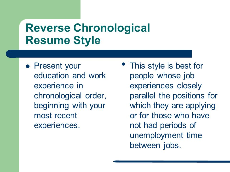 writing an effective resume and application letter chronological order resume template chronological resume template free samples