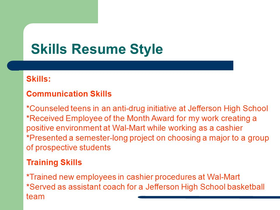 28 Skills Resume Style Skills: Communication Skills  Communication Skills On A Resume