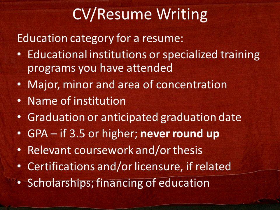 curriculum vitae  resume writing