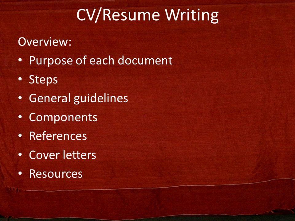 2 CV/Resume ...