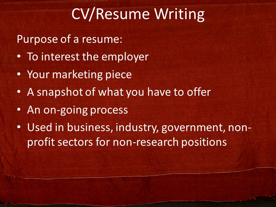 3 CV/Resume ...  Resume Writing Business