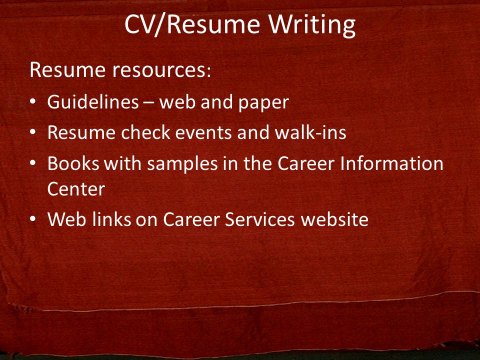 Telling Your Story  Differentiate Yourself Through Your CV   Applica    Succinct Research