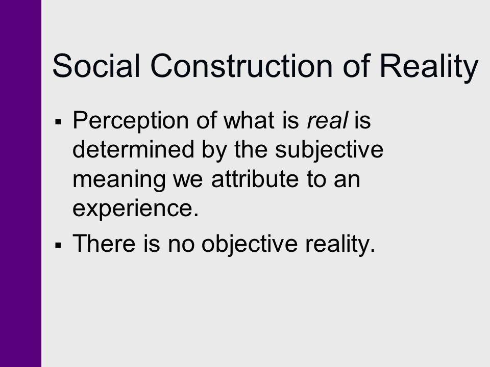 social construction of reality essays