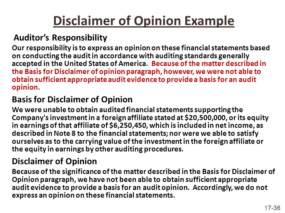 Disclaimer+of+Opinion+Example Top Result 60 New Earnings Disclaimer Template Picture 2017 Lok9