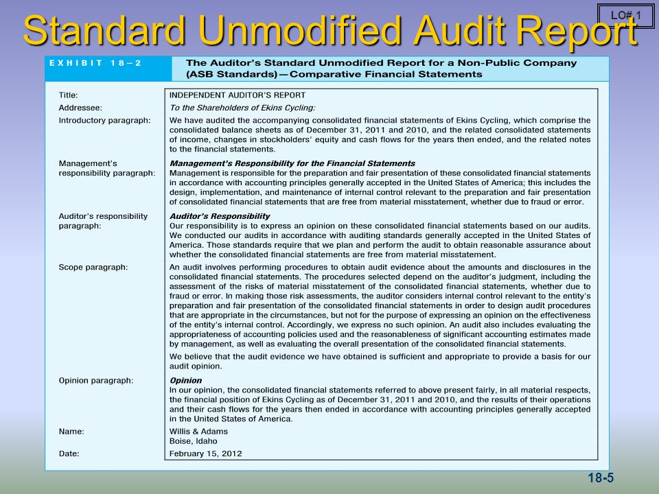 Types of Audit Opinions Rendered in Accounting
