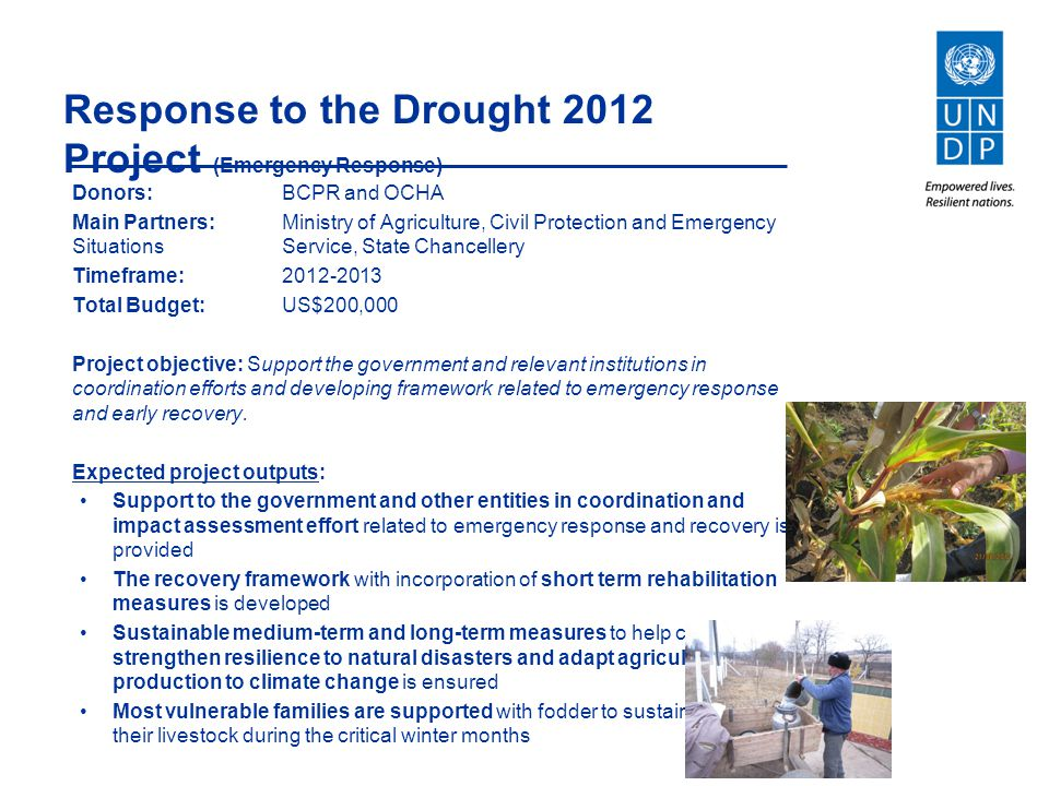 Response to the Drought 2012 Project (Emergency Response)