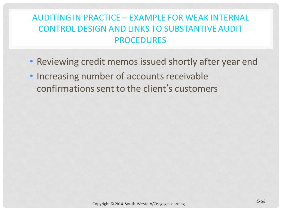 Learning Objectives Identify And Compare The Various Auditing