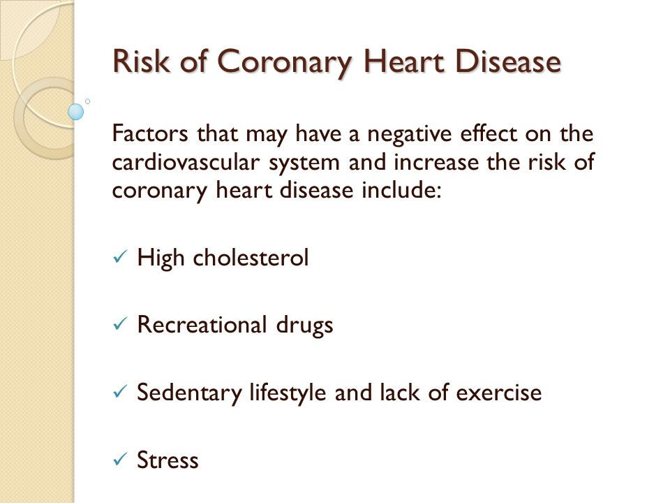 risk factors of cardiovascular drugs Heart disease risk factors that you can change include: smoking high total cholesterol high blood pressure diabetes being physically inactive being overweight or obese depression, social isolation and a lack of quality social support.