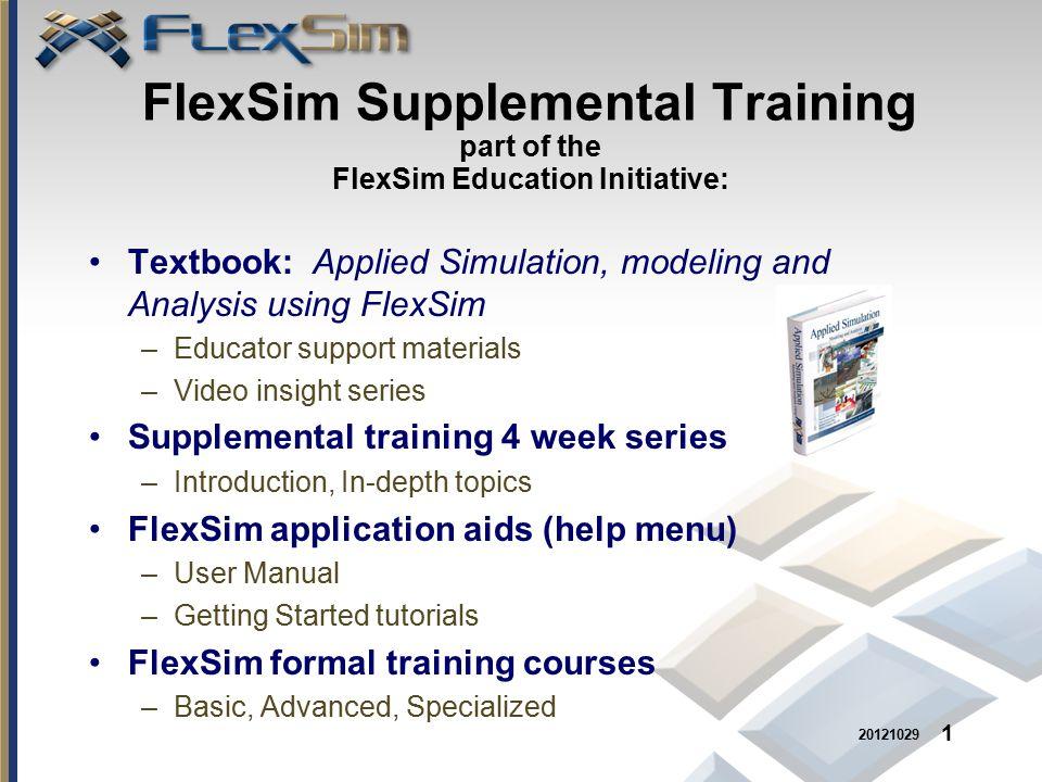 textbook applied simulation modeling and analysis using flexsim rh slideplayer com flexsim user manual Flexsim CEO