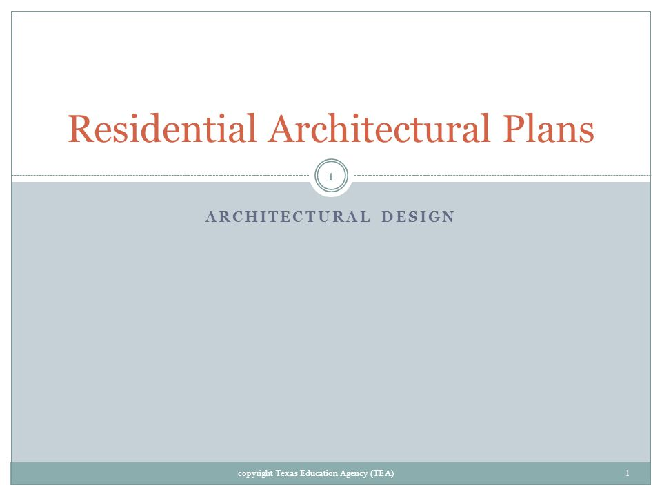 Residential Architectural Plans ppt video online download