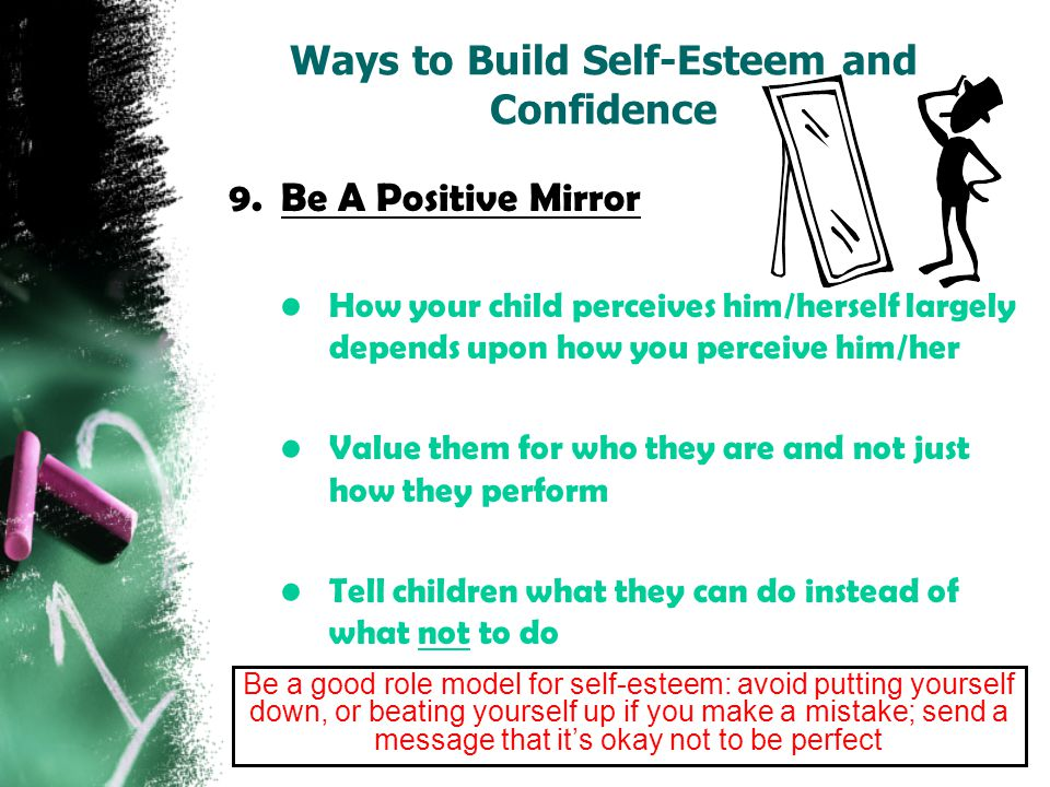 ways to build self esteem essay Self concept and self esteem psychology essay that impact our self esteem and ways to modify them in a together can help build individual self esteem.