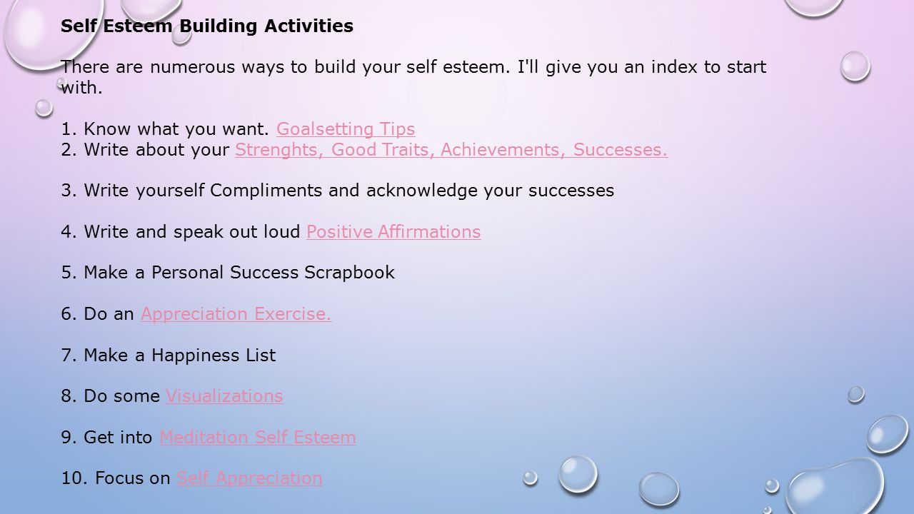Self esteem and your life ppt video online download for I want to build a house where do i start