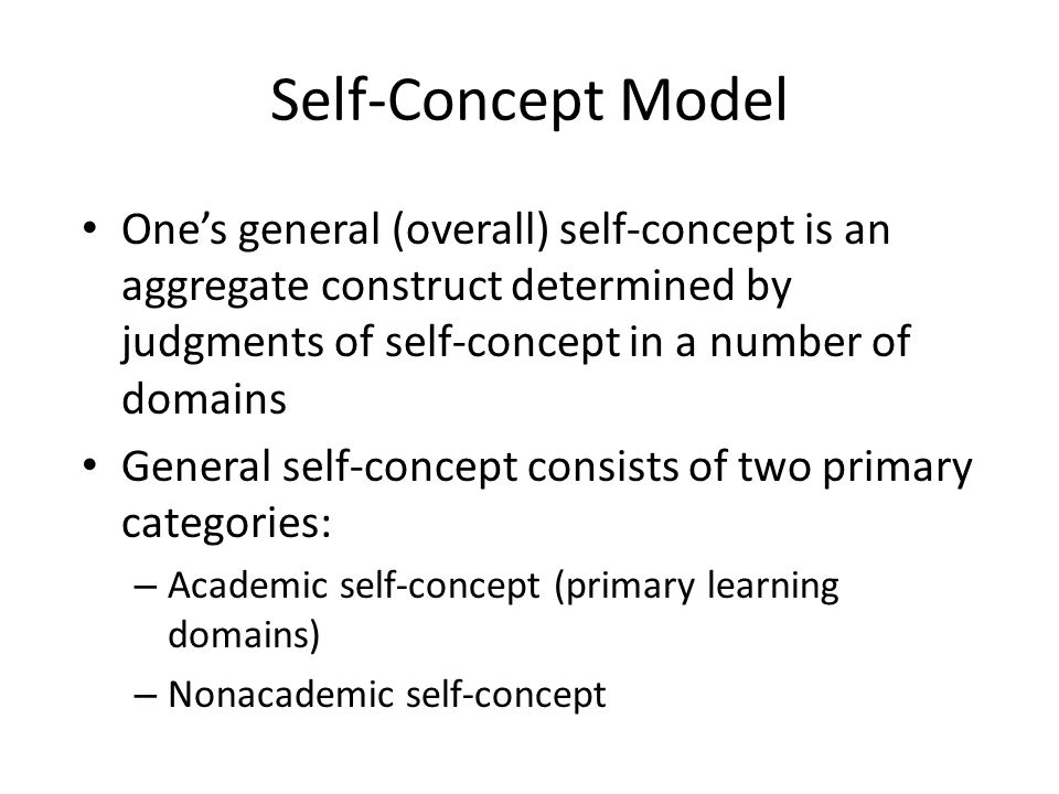 academic self concept Academic self-concept predicts students' future goals and is affected by a student's relative success compared with his or her peer group this exploratory study used structural equation modeling to examine the contributions of the perceived level of difficulty of the curriculum, in addition to.
