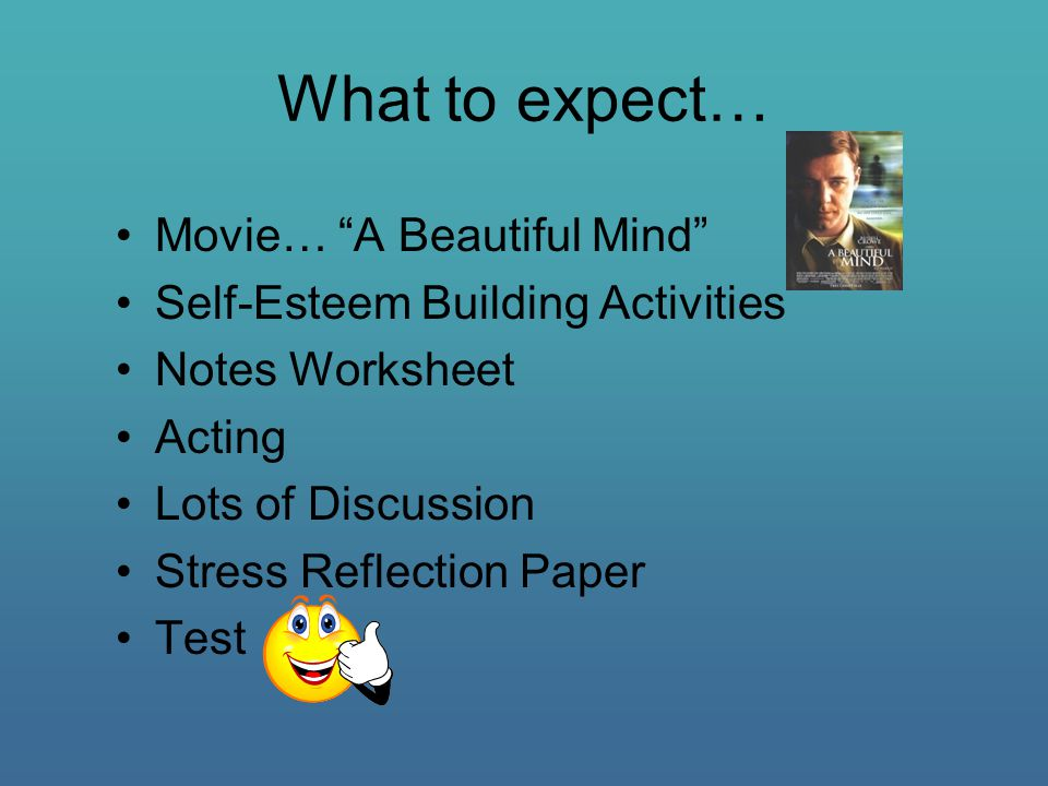 reflection on a beautiful mind A beautiful mind is an american biographical drama film based on the life of john nash, a nobel laureate in economics in this movie, john nash was suffering from a disease schizophrenia now the question arrives, what the hell is schizophrenia.