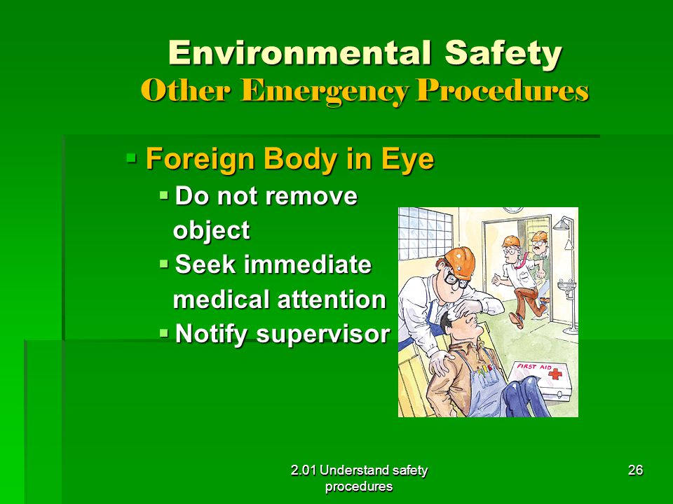 Environmental Safety Other Emergency Procedures