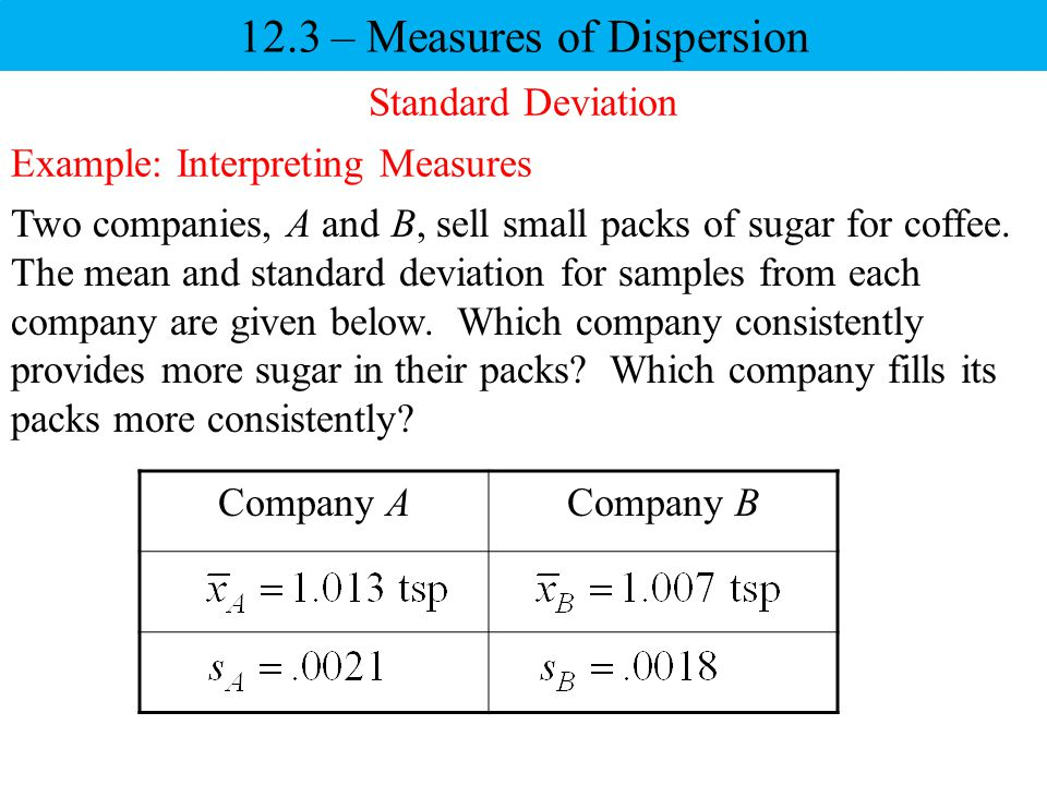12.3 – Measures of Dispersion - ppt video online download