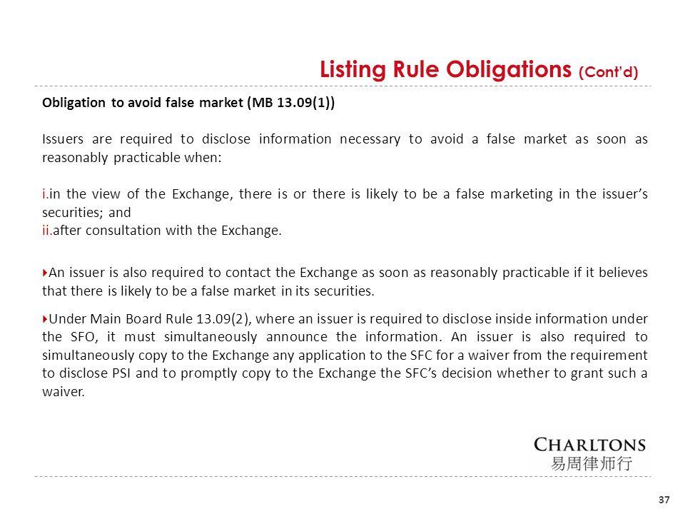 listing rule