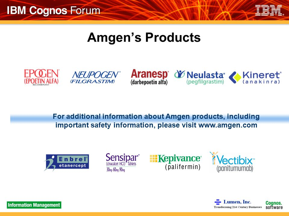 Images of Amgen Products Information - #rock-cafe