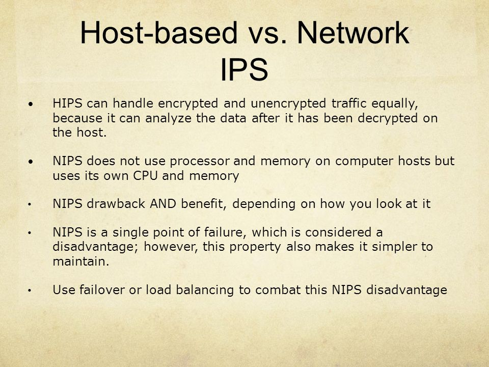 Host-based vs. Network IPS