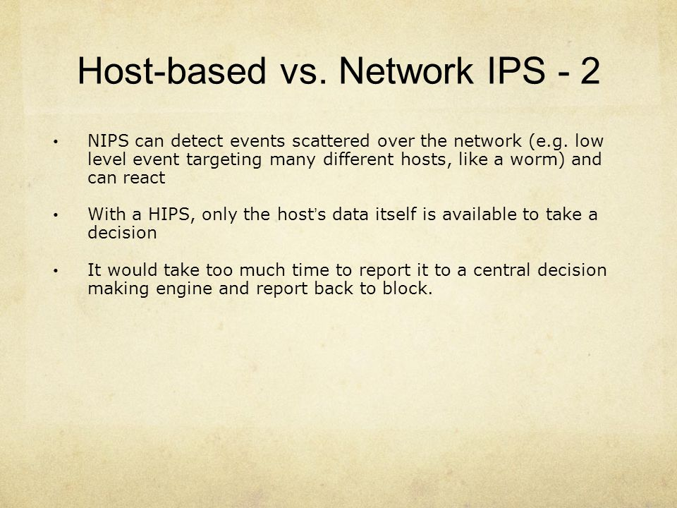 Host-based vs. Network IPS - 2