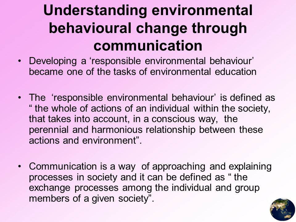 importance of environmental education 402 the role of environmental education in compulsory education problem solving and effective decision-making skills the purpose of this law is to increase.